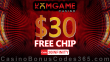DomGame Casino $30 FREE Chips Exclusive No Deposit Welcome Promo