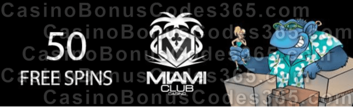 Miami Club Casino 50 FREE Spins on Cool Bananas No Deposit Offer WGS Down the Drain