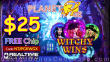 Planet 7 OZ Casino Witchy Wins $25 FREE Chip New RTG Game Special No Deposit Promotion