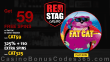 Red Stag Casino 59 FREE WGS Fat Cat Spins and 325% Match Bonus plus 110 FREE Spins New Players Special Deal