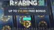 Roaring 21 Welcome Package 200% up to $2000 redeemable 5x up to $10000