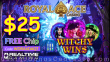 Royal Ace Casino New RTG Game Witchy Wins Special $25 No Deposit FREE Chip Offer