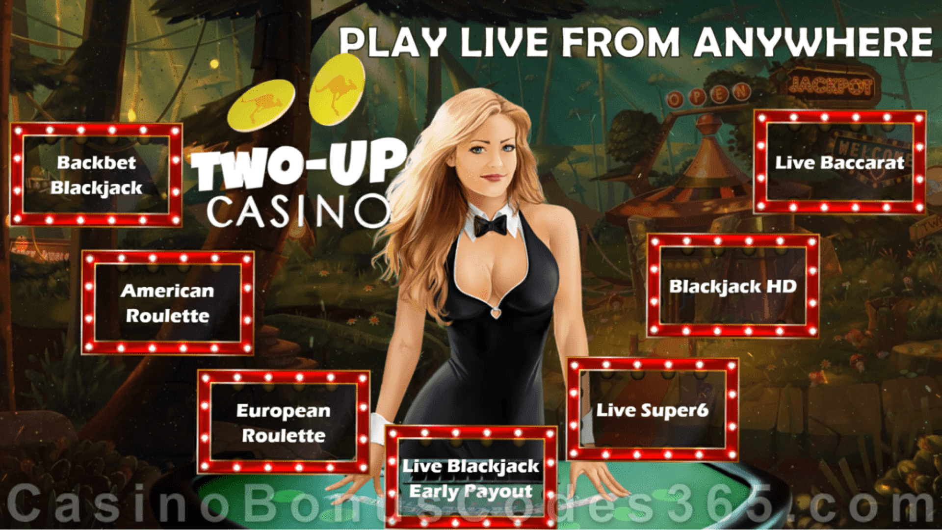 Two-up Casino Live Dealer Games