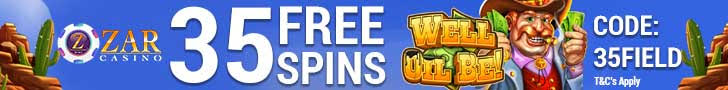 ZAR Casino 35 FREE Spins on Saucify Well Oil Be plus 200% Match Bonus New Players Promotion