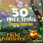 African Grand Online Casino New RTG Game 50 FREE Frog Fortunes Spins and 150% Match Bonus plus 25 FREE Spins Sign Up Deal