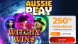 AussiePlay Casino 250% Match Pokies Bonus plus 45 FREE Spins on RTG Witchy Wins Special New Players Starter Pack