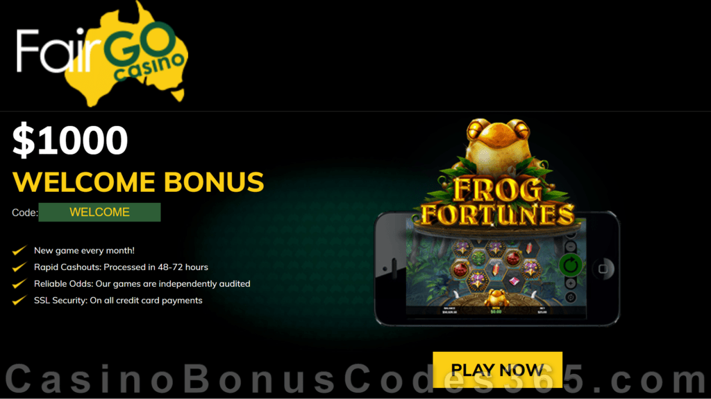Fair Go Casino RTG Frog Fortunes