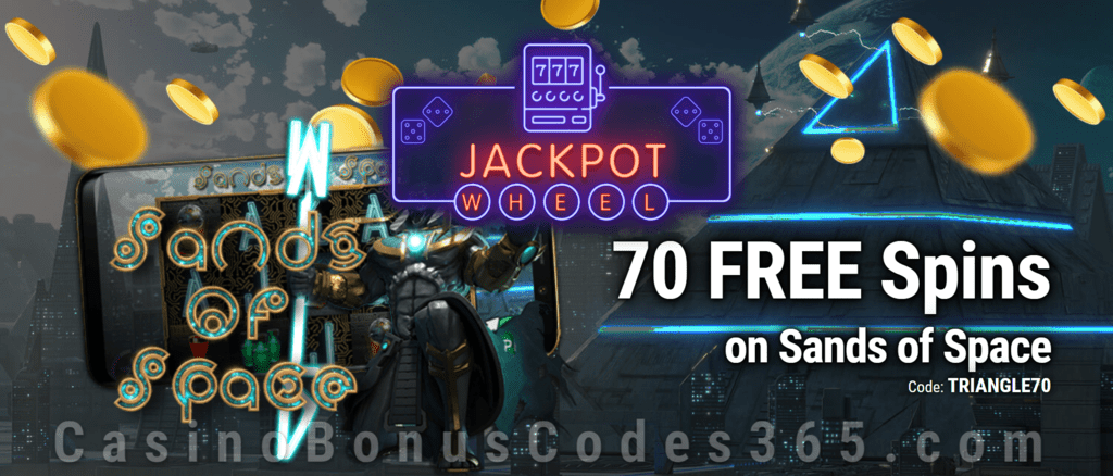 Jackpot Wheel 70 FREE Saucify Sands of Space Spins Exclusive No Deposit All Players Promo