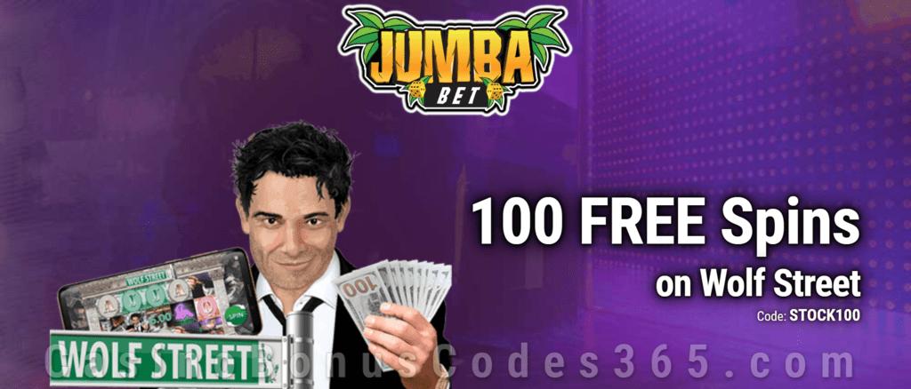 Jumba Bet Exclusive No Deposit 100 FREE Saucify Wolf Street Spins Offer