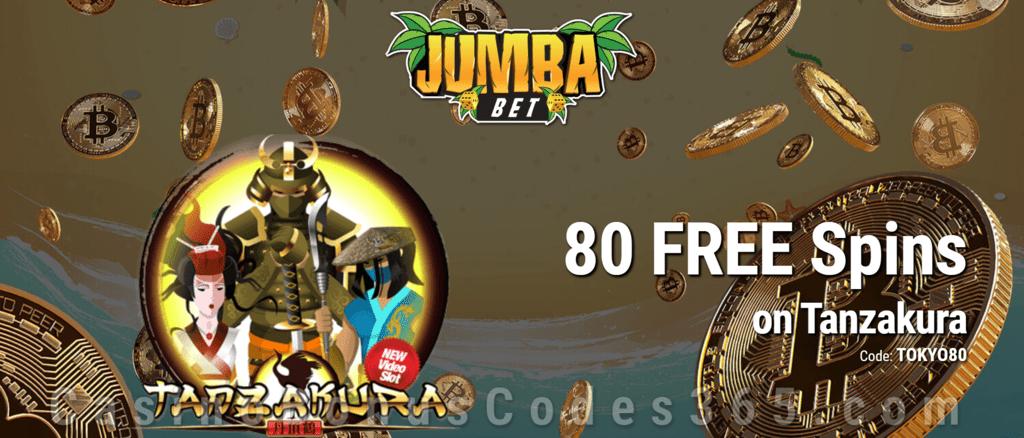 Jumba Bet Exclusive No Deposit 80 FREE Saucify Tanzakura Spins Offer
