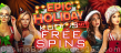 Kudos Casino 30 FREE Epic Holiday Party Spins New RTG Game Special Promo