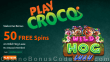 PlayCroco 50 FREE Spins on RTG Wild Hog Luau Special No Deposit Deal for All Players