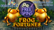 Prima Play Frog Fortunes 100 FREE Spins Special New RTG Game Deal