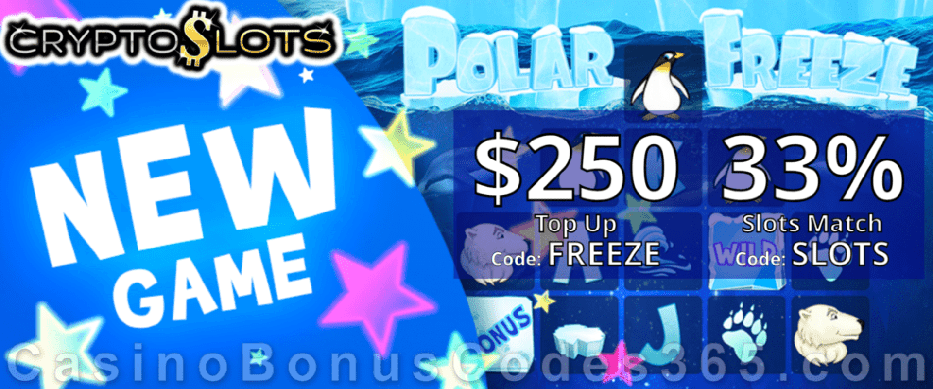 CryptoSlots Polar Freeze New Slot Special Offer