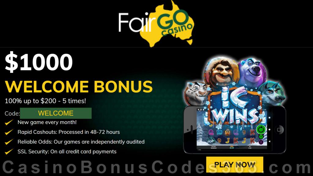 Fair Go Casino RTG IC Wins