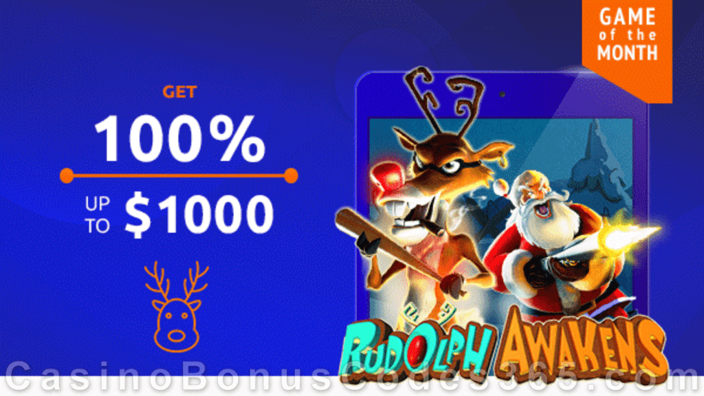 Jackpot Capital December Game of the Month RTG Rudolph Awakens Special Promo