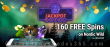 Jackpot Wheel Exclusive 160 FREE Saucify Nordic Wild Spins No Deposit Offer