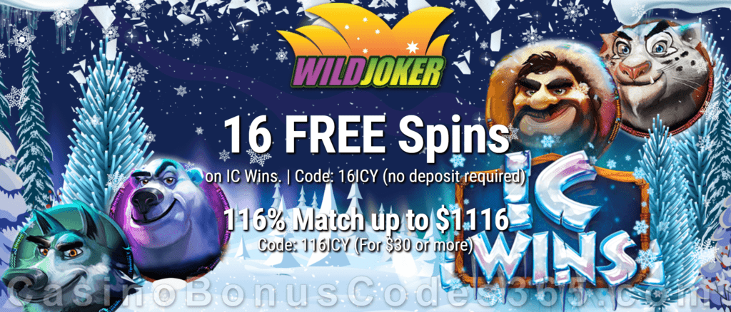 Wild Joker Casino 16 FREE Spins on IC Wins and 150% Match plus 25 FREE Spins New RTG Game Special Welcome Package