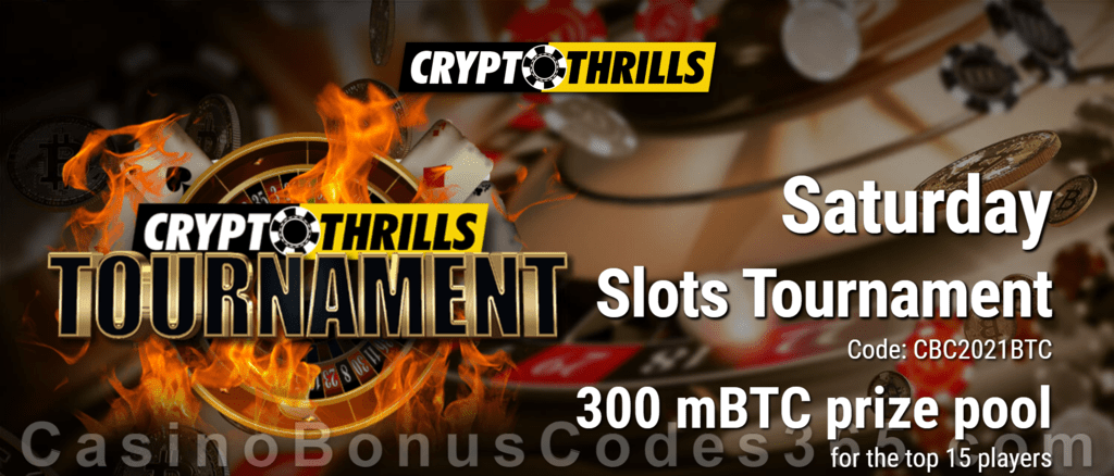 CryptoThrills Casino Saturday Slots Tournament