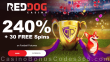 Red Dog Casino 240% Match plus 30 FREE RTG Football Fortunes Spins Special New Players Offer