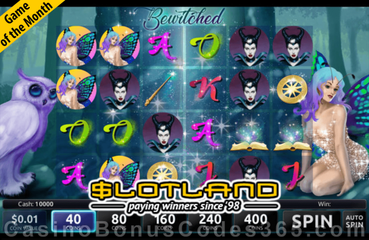 Slotland Casino January Game of the Month Bewitched