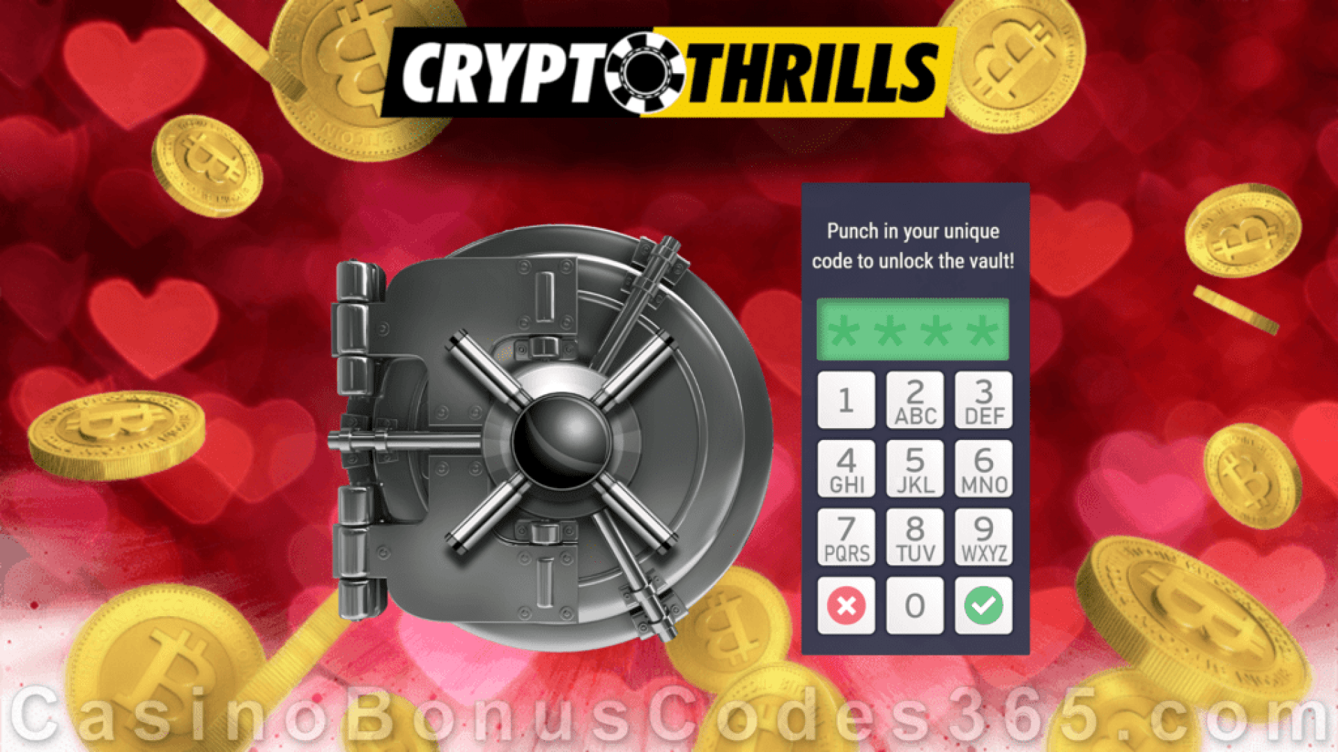 CryptoThrills Casino Loot the Vault Special St. Valentine's Day Bonuses Game