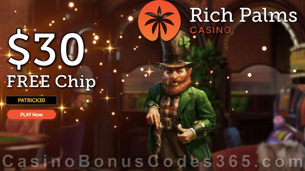 Rich Palms Casino $30 FREE Chip St. Patrick's Day Celebration