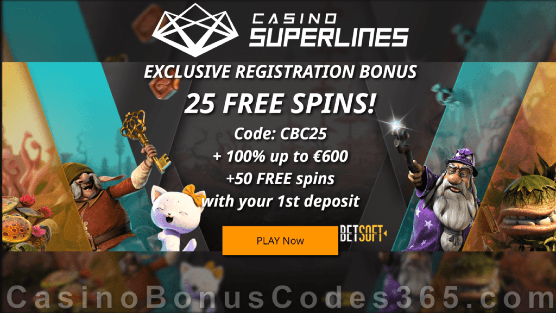 Casino Superlines Exclusive 25 FREE Spins No Deposit Welcome Deal