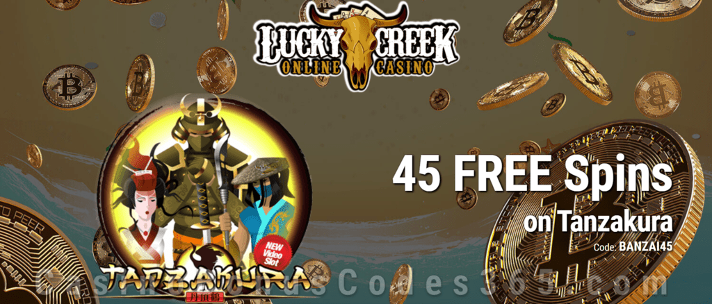 Lucky Creek 45 FREE Spins on Saucify Tanzakura Exclusive Promo