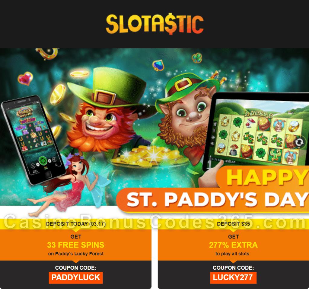Slotastic Online Casino Happy St. Patrick's Day RTG Swet 16