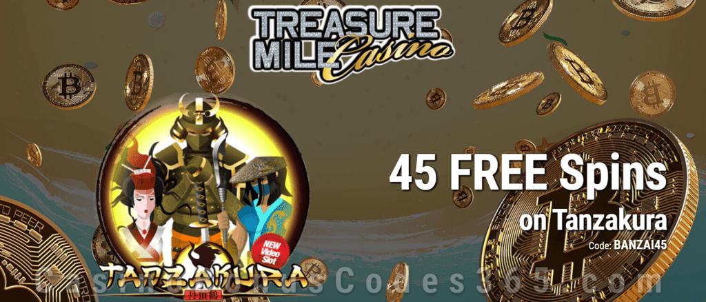 Treasure Mile Casino 45 FREE Spins on Saucify Tanzakura Exclusive Offer