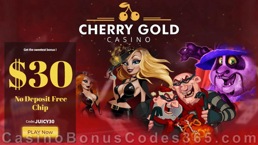 Cherry Gold Casino Exclusive $30 No Deposit Bonus FREE Chips