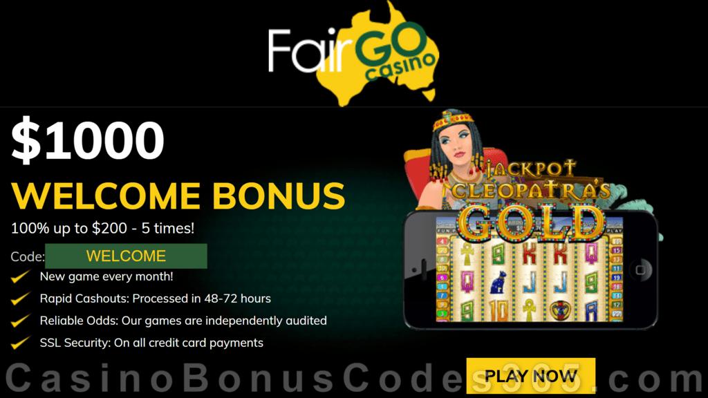 Fair Go Casino RTG Jackpot Cleopatra's Gold