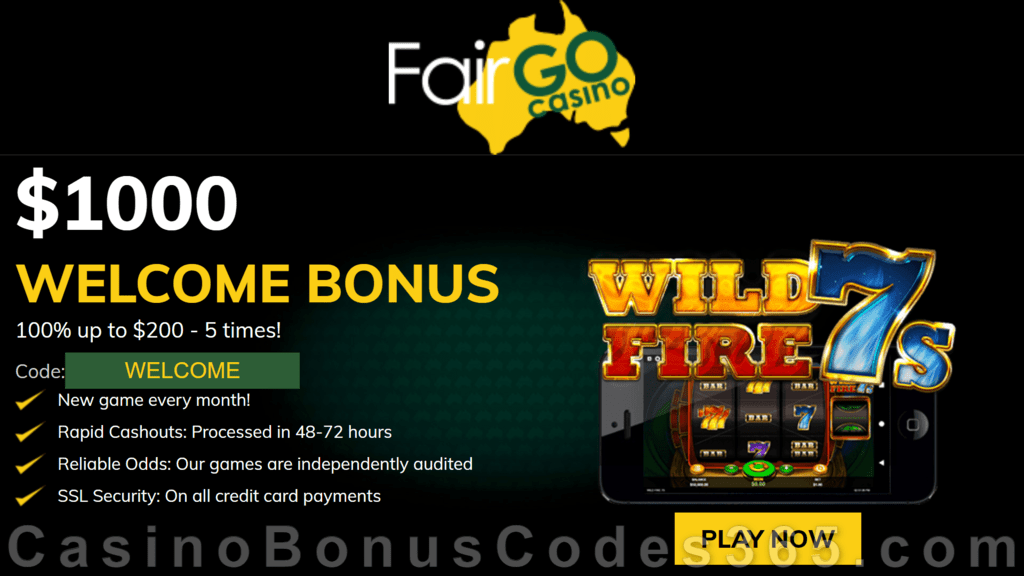 Fair Go Casino RTG Wild Fire 7s