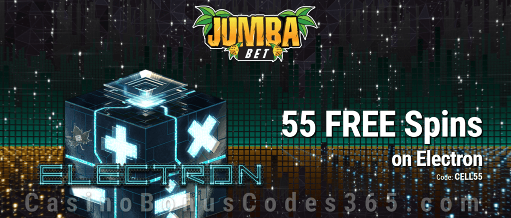 Jumba Bet Exclusive No Deposit 55 FREE Saucify Electron Spins Offer