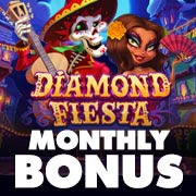 Intertops Casino Red 125% Match Bonus plus 55 FREE Spins RTG Slot of the Month Diamond Fiesta Wild Fire 7s Special Deposit Promo