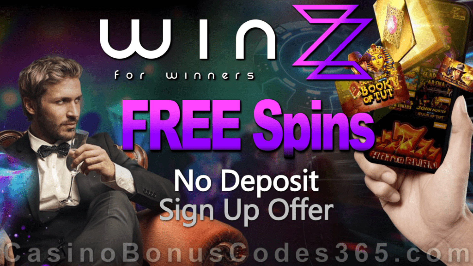 Winzz Monthly No Deposit FREE Spins Offer
