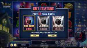 Take the Bank Betsoft Slot Buy Feature
