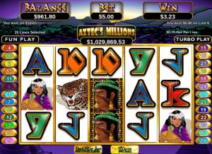Aztec's Millions Win on Payline 6