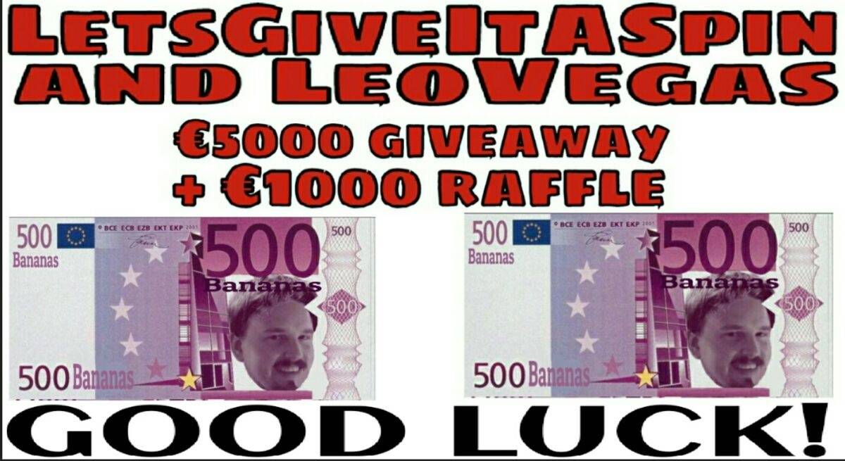 €5000 Giveaway with LetsGiveItASpin & LeoVegas