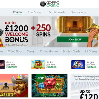 GoPro Casino - Homepage