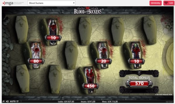 Blood Suckers bonusspel