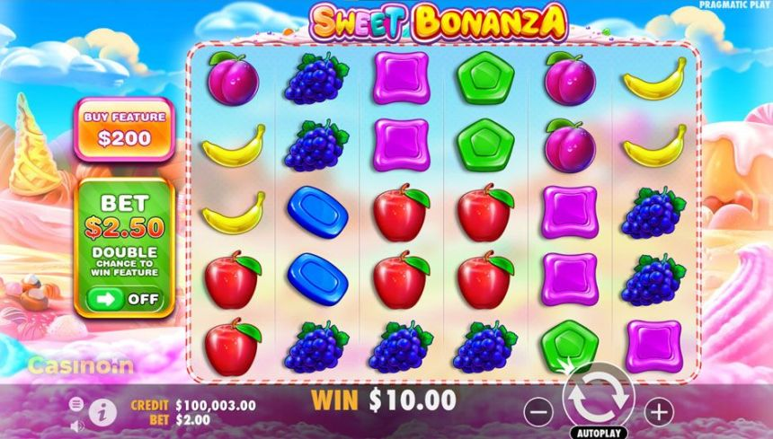 Sweet Bonanza Slot Screen