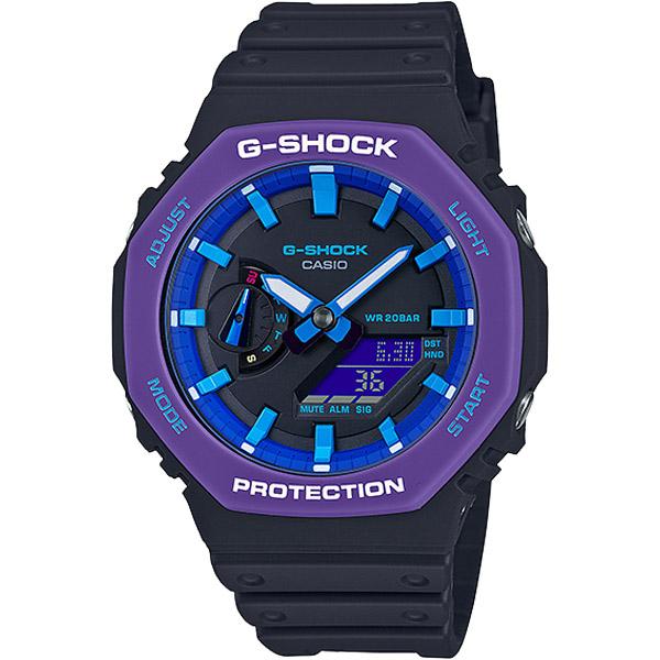 Đồng Hồ Casio G Shock GA-2100THS-1A - Nam - Dây Nhựa Màu Đen - Viền Mặt Màu Tím
