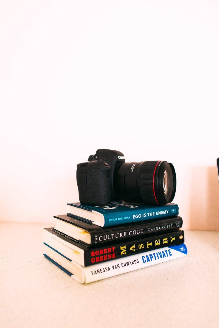 casi yosts favorite books and camera