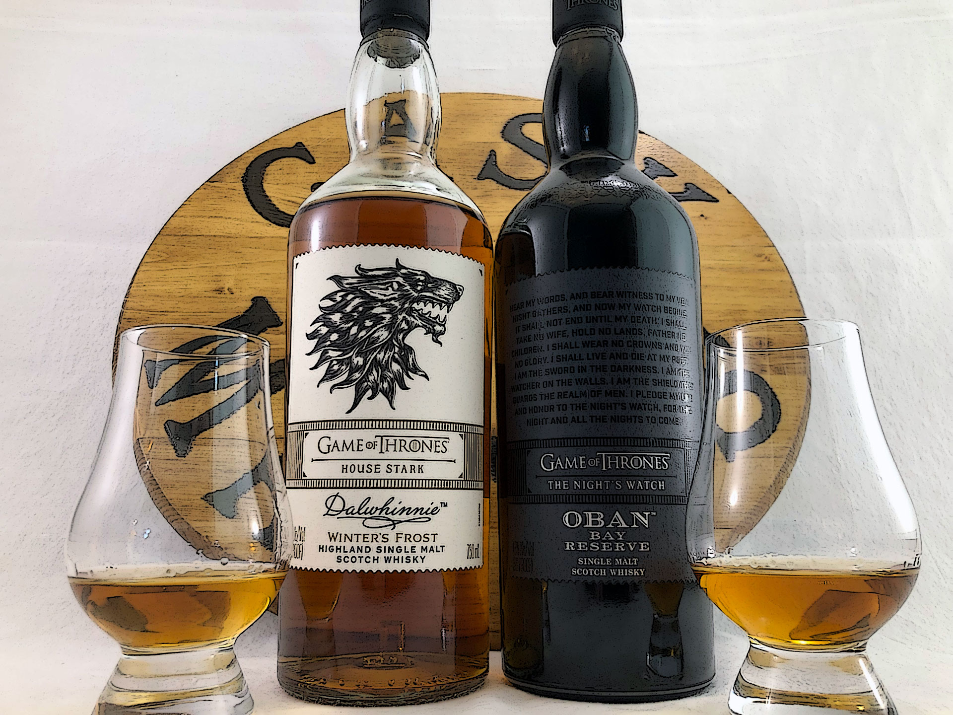 Game of Thrones - House Stark & Night's Watch Scotch