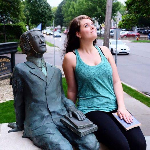 Young F. Scott Fitzgerald statue in St. Paul, MN