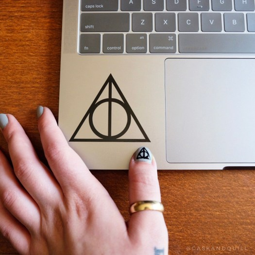 Harry Potter decal and nail art deathly hallows