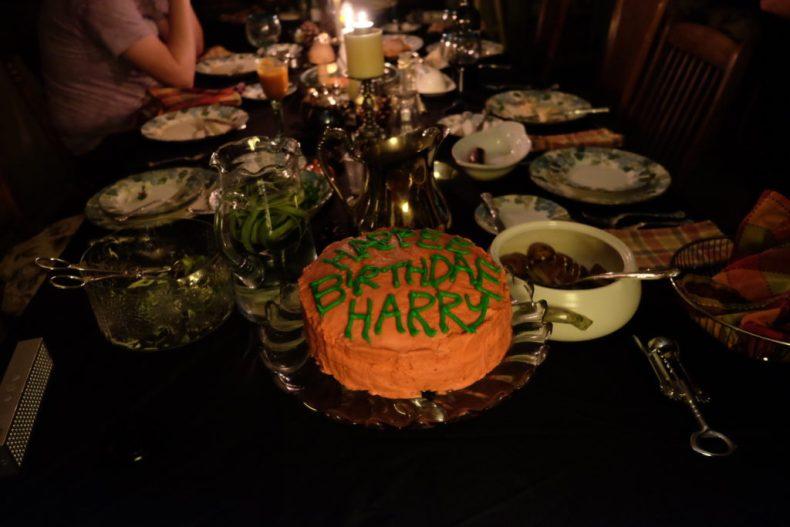 Harry Potter birthday cake, feast