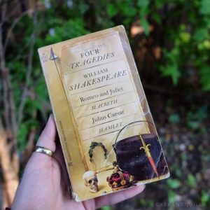 Shakespeare book of plays, Romeo and Juliet, Macbeth, Hamlet